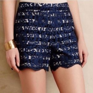 Cartonnier (Anthro) Lace High Waisted Shorts